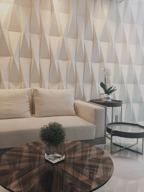 Sala Luxo : Salas de estar  por Designer Paula Daiane dos Santhos