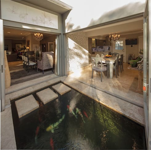 With Skipping Stone Bridge:  Patios by Spegash Interiors