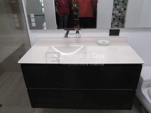 Mueble para baño:  de estilo  por Francisco Cruz Arquitectura interior