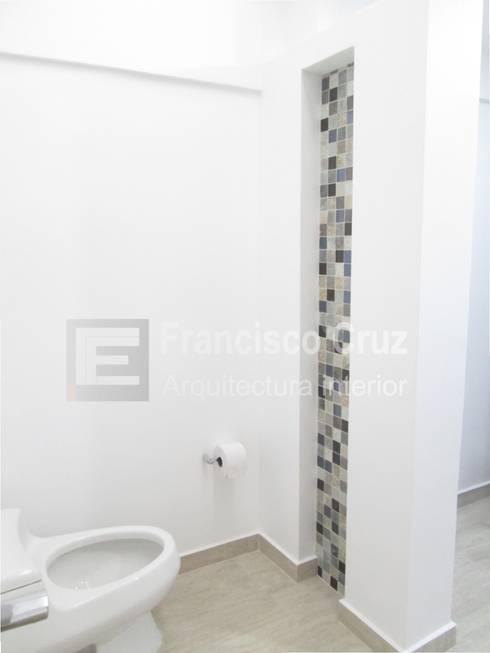 Diseño interior baños y remodelacion :  de estilo  por Francisco Cruz Arquitectura interior
