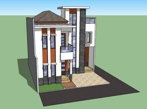 Sketch Rumah Tinggal di Perumnas Klender - Jakarta Timur :   by Amirul Design & Build