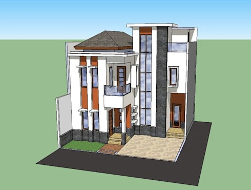 Sketch Rumah Tinggal di Perumnas Klender – Jakarta Timur :   by Amirul Design & Build