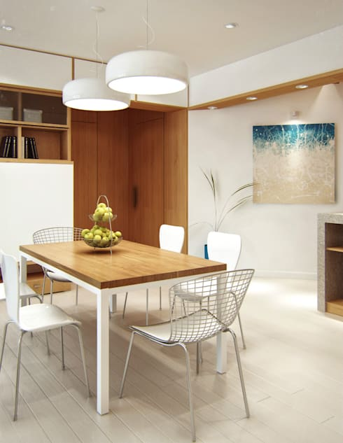 Beach Theme Interior:  Ruang Makan by March Atelier