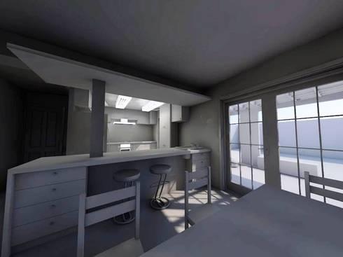remodelación terraza y cocina: Cocinas equipadas de estilo  por SoLazuL arquitectos