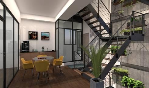 豐原節能綠建築:  商業空間 by 利程室內外裝飾 LICHENG