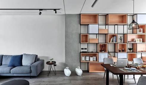 輕 湖口 別墅宅:  客廳 by WID建築室內設計事務所 Architecture & Interior Design