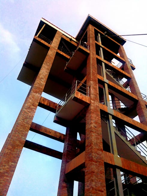 Zipline Staging Tower:   by Integrated Workers Multi-Purpose Cooperative