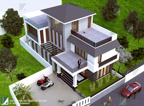 BIỆT THỰ PHỐ NHỎ XINH:   by công ty cổ phần Thiết kế Kiến trúc Việt Xanh