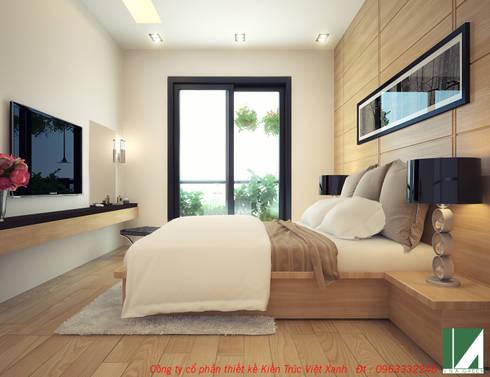 PHỐI CẢNH PHÒNG NGỦ 1:   by công ty cổ phần Thiết kế Kiến trúc Việt Xanh