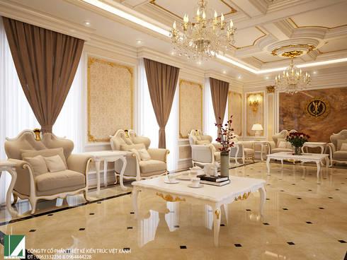 FULL BIỆT THỰ NỘI THẤT TÂN CỔ ĐIỂN:   by công ty cổ phần Thiết kế Kiến trúc Việt Xanh