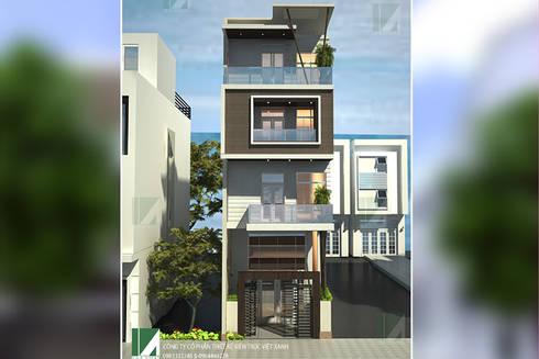 8 MẪU NHÀ PHỐ HIỆN ĐẠI 4 TẦNG CỰC ĐẸP :   by công ty cổ phần Thiết kế Kiến trúc Việt Xanh