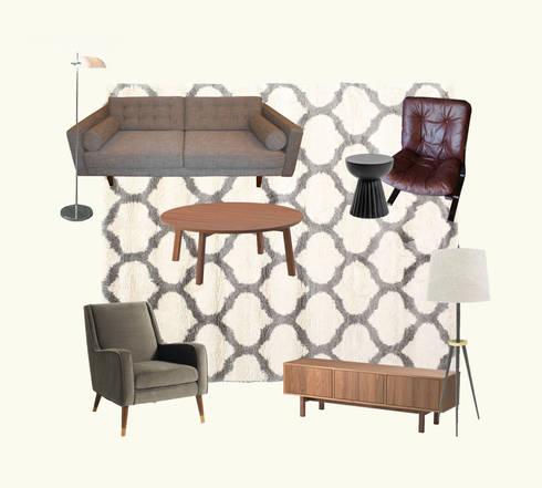 Moodboard sala de estar:   por Tangerinas e Pêssegos