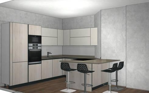 Cucina Rovere Bianco e Laccato Bianco di Formarredo Due design 1967 ...