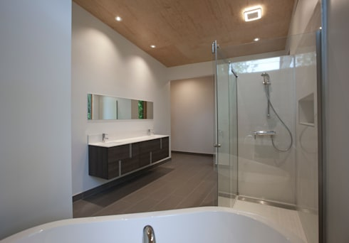 Old Farm Residence: modern Bathroom by RT Studio, LLC