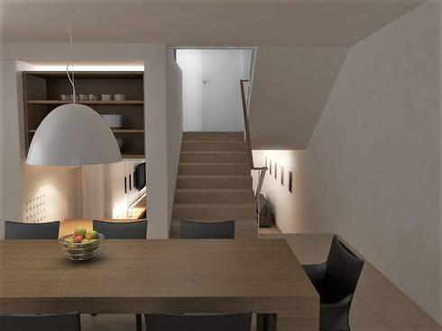 Lomas de Las Mercedes: Comedores de estilo minimalista por RRA Arquitectura