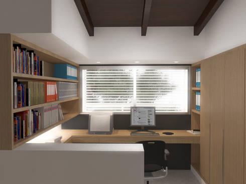 Lomas de Las Mercedes: Oficinas de estilo minimalista por RRA Arquitectura