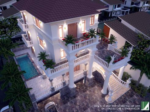BIỆT THỰ CỔ ĐIỂN SIÊU SANG TRỌNG :   by công ty cổ phần Thiết kế Kiến trúc Việt Xanh