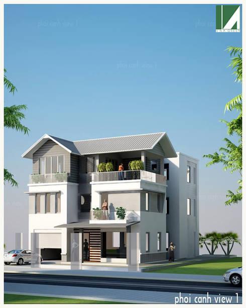 BIỆT THỰ KHU ANH DŨNG - HẢI PHÒNG :   by công ty cổ phần Thiết kế Kiến trúc Việt Xanh
