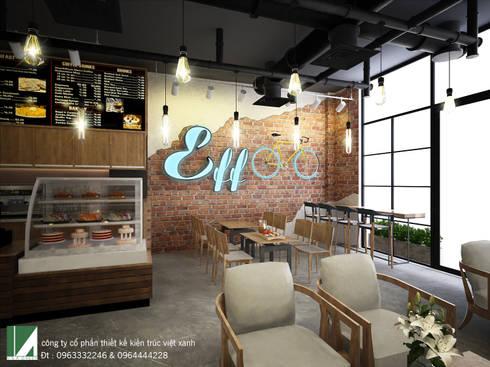 QUÁN  COFFEE  MỘC:   by công ty cổ phần Thiết kế Kiến trúc Việt Xanh