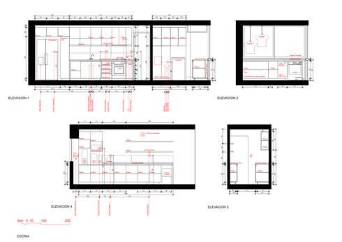 Cocina Luz:  de estilo  por Crescente Böhme Arquitectos