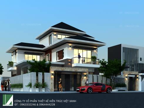 BIỆT THỰ 3 TẦNG HIỆN ĐẠI – ANH SINH:   by công ty cổ phần Thiết kế Kiến trúc Việt Xanh