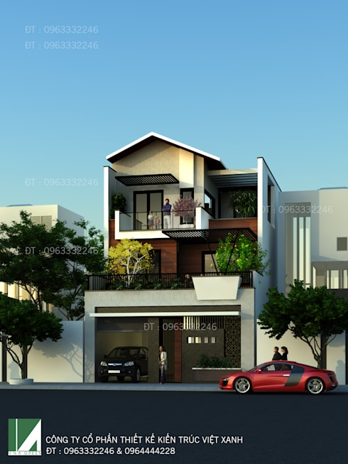 http://thietkehaiphongxanh.vn/p-153/biet-thu-lo-pho--3-tang-hien-dai-dep-o-vinh:   by công ty cổ phần Thiết kế Kiến trúc Việt Xanh