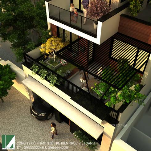 BIỆT THỰ LÔ PHỐ 3 TẦNG HIỆN ĐẠI ĐẸP Ở VINH:   by công ty cổ phần Thiết kế Kiến trúc Việt Xanh