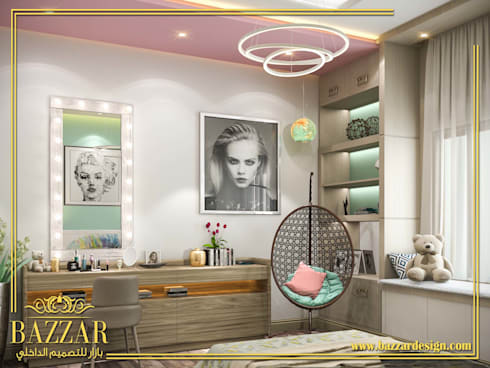 غرف بنات:  Bedroom تنفيذ Bazzar Design