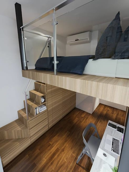 Touch of Luxury: modern Bedroom by Singapore Carpentry