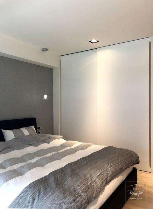 清晨的萊特:  臥室 by 酒窩設計 Dimple Interior Design