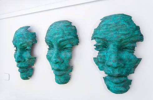 Facial Artblue:   by Deborah Garth Interior Design