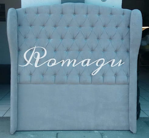 CABECERA MATRIMONIAL MOD. ROMANISH: Recámaras de estilo clásico por Muebles Romagu
