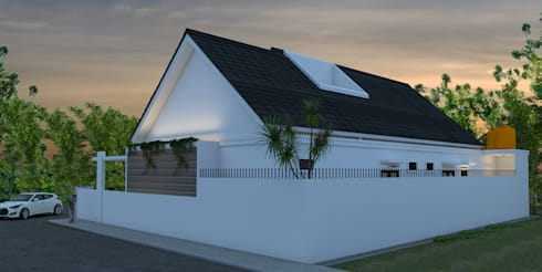 F-HOUSE :  Atap by BALCON ARCHITECTS