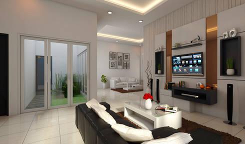 F-HOUSE :  Ruang Keluarga by BALCON ARCHITECTS