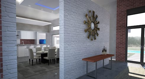 New Entrance: modern Dining room by A4AC Architects