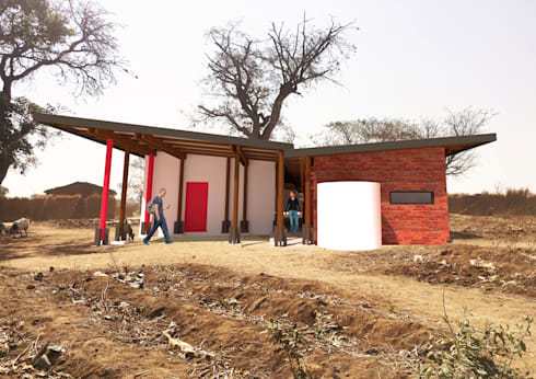 REAR VIEW:  Clinics by A4AC Architects