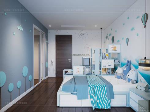 THIẾT KẾ BIỆT THỰ PALM CITY – Nét đẹp giao hòa trong không gian sống hiện đại:  Phòng trẻ em by ICON INTERIOR