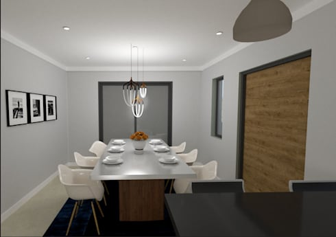 Diningroom Addition: modern Dining room by A4AC Architects