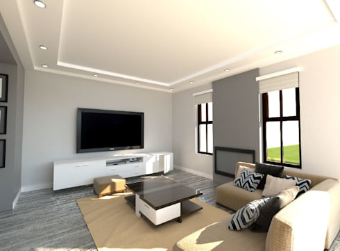 New Entertainment Area: modern Living room by A4AC Architects