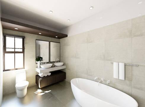 New Main Bathroom: modern Bathroom by A4AC Architects