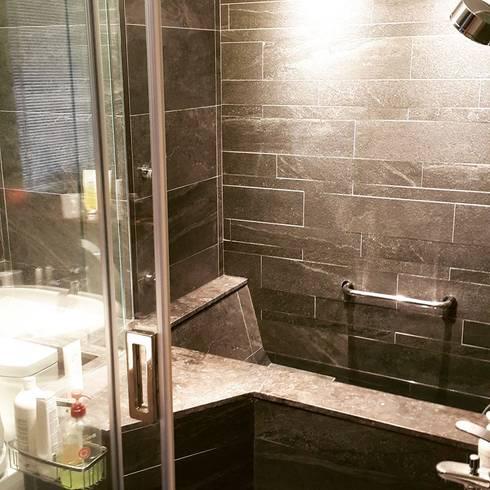 實案_羅斯福路三段_室內設計規劃工程案之酒店式衛浴:  浴室 by 富豪室內裝修設計科技股份有限公司