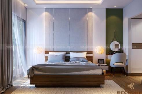 Phòng ngủ master :  Phòng ngủ by Công Ty TNHH Xây Dựng & Nội Thất ECO Việt Nam