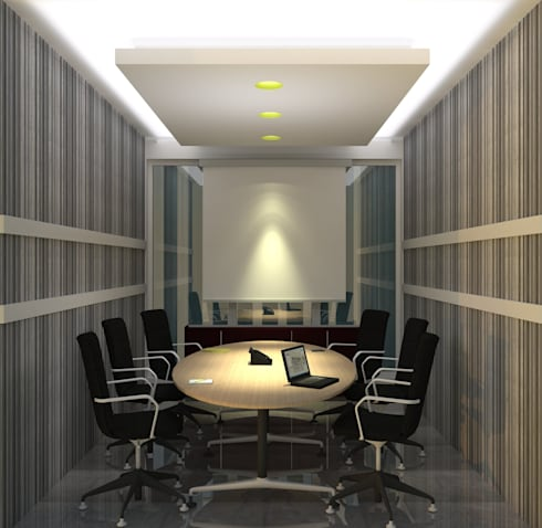 Meeting Room:  Gedung perkantoran by GRADASI ARCHITECTURE STUDIO