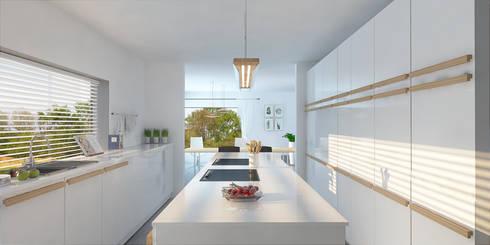 Kitchen - Dutch House: modern Kitchen by Dedekind Interiors