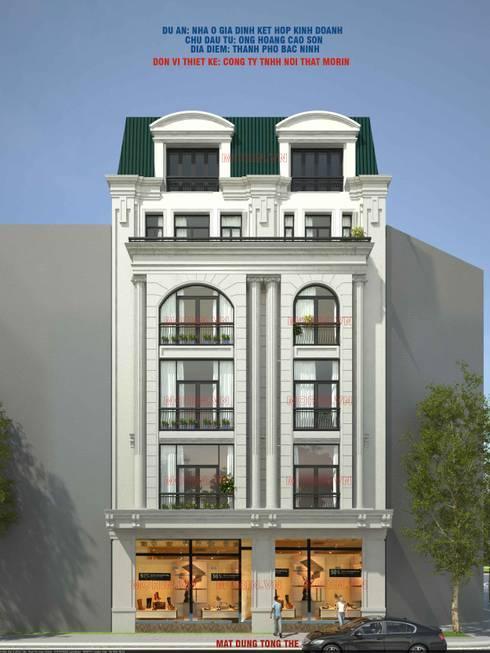 Thiết kế Nhà ở gia đình kết hợp kinh doanh:  Nhà by Công ty TNHH Nội thất MORIN