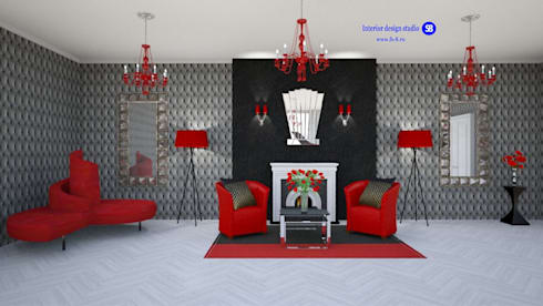 Living room in art deco style: eclectic Living room by 'Design studio S-8'