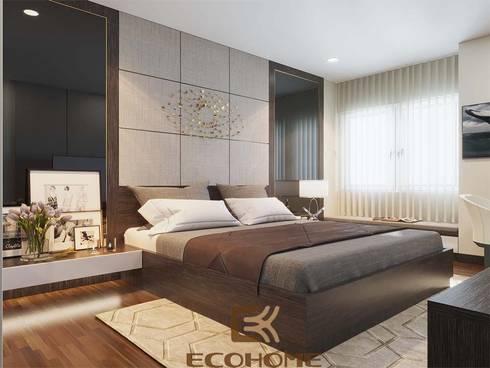Phòng ngủ master:  Phòng ngủ by Công Ty TNHH Xây Dựng & Nội Thất ECO Việt Nam