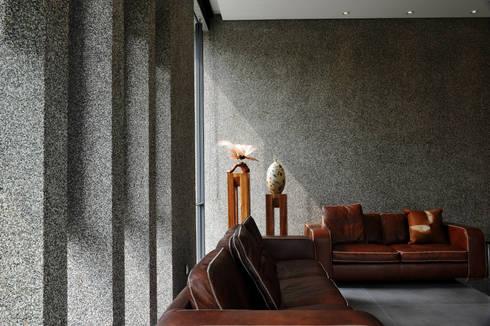 室內設計 豐原 WL House:  牆面 by 黃耀德建築師事務所  Adermark Design Studio