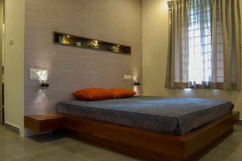 eclectic Bedroom by Synergy Architecture and Interiors