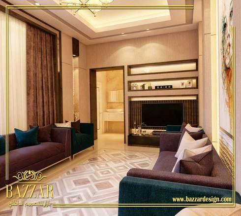 مجلس نساء:  Living room تنفيذ Bazzar Design